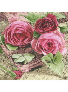 20 Serviettes Roses sentimentales