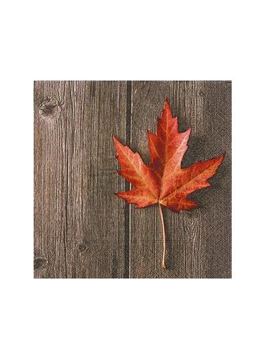 20 Serviettes Feuille d'automne