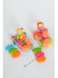 1 boite esquimau et clown assis