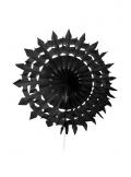 2 éventails de papier dentelle noir 20cm