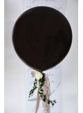 1 ballon GEANT 90cm chocolat noir