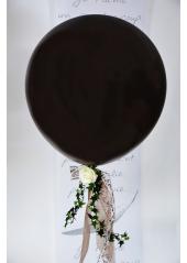 1 ballon GEANT 90cm noir