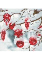 20 Serviettes Noel enneigé