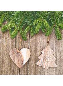 20 Serviettes chalet Noël enchanté