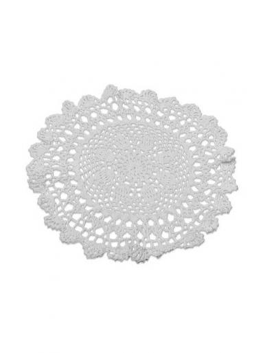 1 napperon crochet 30cm ivoire