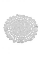 1 napperon crochet 30cm blanc