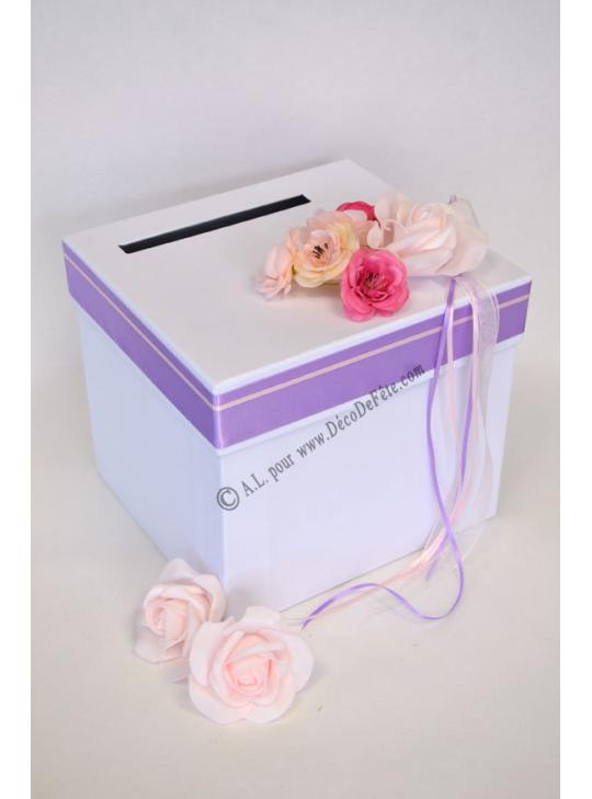 1 urne margot rose lavande - Chemin de table lavande ...