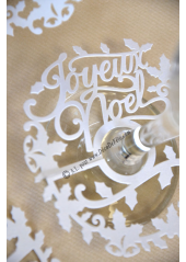 10 décorations de verre JOYEUX NOEL