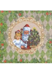 20 Serviettes imprimées Noel d'antan