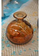 1 vase bouteille COLETTE ambre 12cm