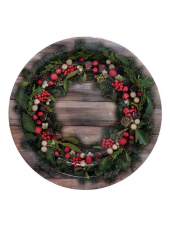 10 assiettes baies de Noël
