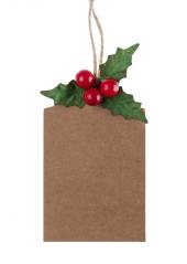 6 étiquettes BAIES de Noël