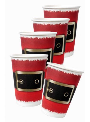 10 gobelets CEINTURE du Père-Noël