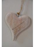 1 coeur bois naturel 14cm
