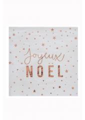 20 Serviettes COCKTAIL Joyeux Noël CUIVRE