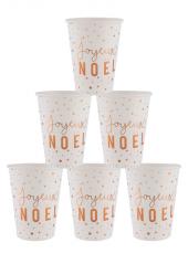 10 gobelets Joyeux NOEL CUIVRE