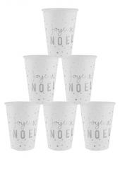 10 gobelets Joyeux NOEL ARGENT