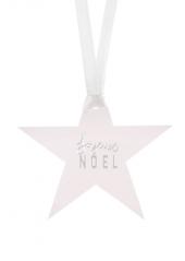 12 étoiles marque-place Joyeux NOEL ARGENT
