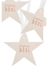 12 étoiles marque-place Joyeux NOEL CUIVRE