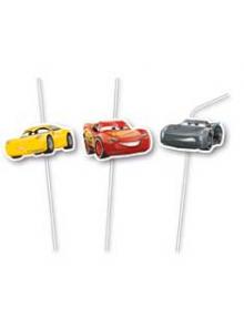 6 pailles Anniversaire Cars