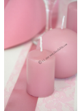 1 Bougie cylindre 6cm VIEUX rose