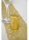 1 Bougie cylindre 6 cm or