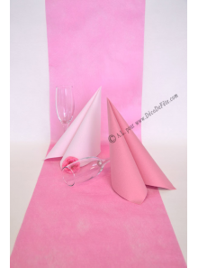 10M Chemin de table SUBLIM rose bonbon