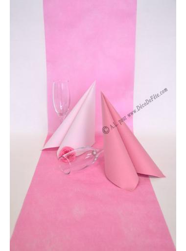 10M Chemin de table SUBLIM rose bonbon