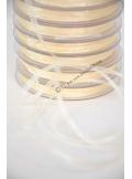 50m Ruban ivoire 3mm organdi