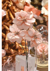 1 branche 3 Poinsettias ROSE