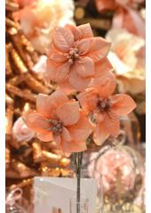 1 branche 3 Poinsettias PECHE