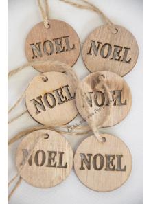 6 ronds NOEL bois nature