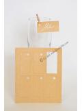 12 Etiquettes rectangle KRAFT