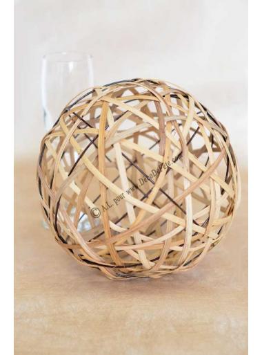 1 boule rotin 20cm. Black Bedroom Furniture Sets. Home Design Ideas