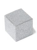 8 boites carrées ARGENT pailleté