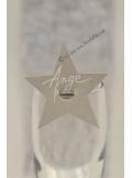 12 Etiquettes étoile argent