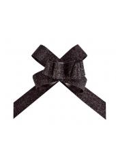 10 mini noeuds paillette noir