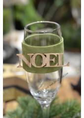 1 fourreau vert absinthe NOEL pour verre