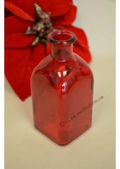 1 vase CARRE 13cm ROUGE