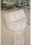 10m Ruban coton IVOIRE flocons de neige blanc