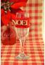 1 fourreau rouge NOEL pour verre