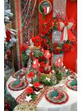 1 Poinsettia ROYAL velours rouge