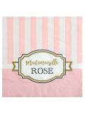 20 serviettes rayée mimi rose