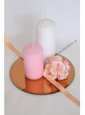 1 miroir rond cuivre blond 20 cm. Black Bedroom Furniture Sets. Home Design Ideas
