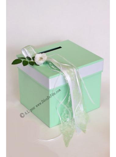 1 Urne tirelire GLORIA vert tendre