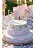 1 déco de gâteau pêche Melle Rose