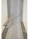 5M dentelle PERSANNE blanc 18cm