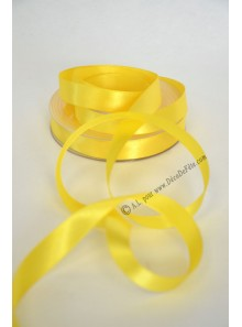 25m Ruban 15mm satin JAUNE