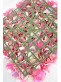 1 carré HORTENSIA FUSHIA
