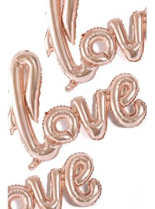 1 ballon LOVE rose gold